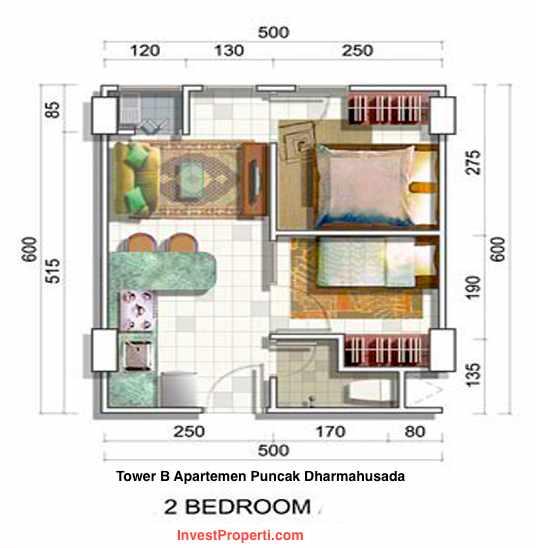 Unit 2 Bedrooms