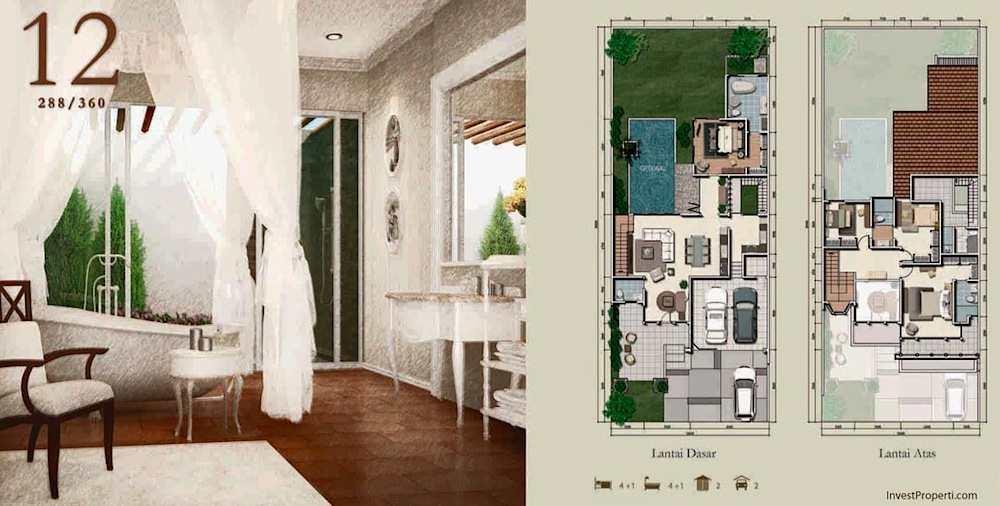 Unit Plan Rumah Whitsand Tipe 12 Greenwich Park BSD