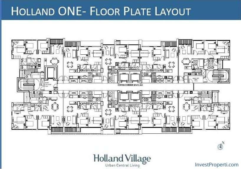 Floor Plan Holland Village Apartment Tower 1