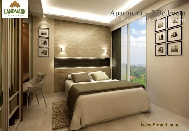 Design kamar 2 br landmark residence apartemen for Design apartemen 2 kamar