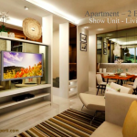 Design Living Room Landmark Residence Apartemen 2 BR