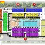site plan lantai 3a swiss belhotel kuta bali
