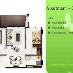 Tipe 2BR Landmark Residence Apartment Bandung