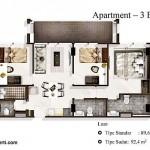 Tipe 3BR Landmark Residence Apartment Bandung