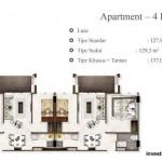 Tipe 4BR Landmark Residence Apartment Bandung