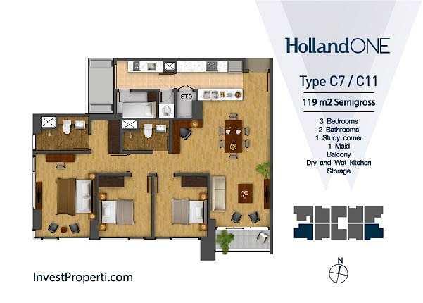 Tipe Unit C7 / C11 Holland One
