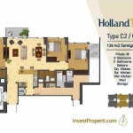Tipe Unit Holland Two C2/C6 Holland Village Apartemen