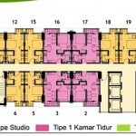 Lantai 2-21 & 25-28 Floor Plan Tower Magnolia Apartment Casa de Parco