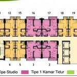 Lantai 30 Floor Plan Tower Magnolia Apartment Casa de Parco