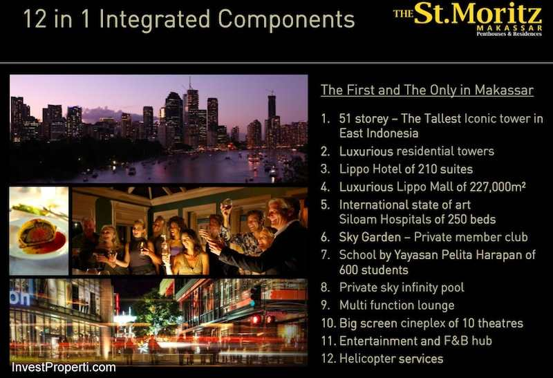 12 in 1 Integrated Components St Moritz Makassar