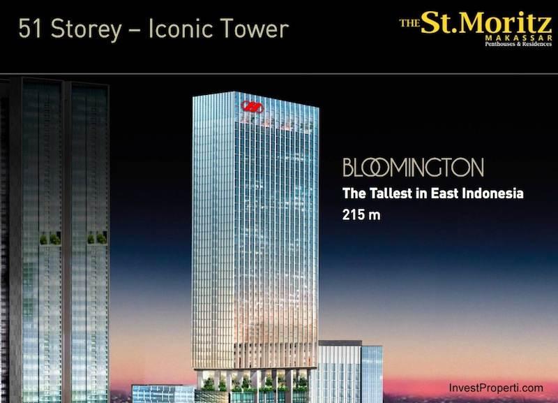 51 Storey Iconic Tower St. Moritz Makassar