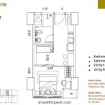 St Moritz Makassar Apartemen Deluxe-Suite-Tipe-S-1D Unit Plan