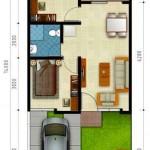 Denah Rumah Cluster Premier Savanna Tipe D
