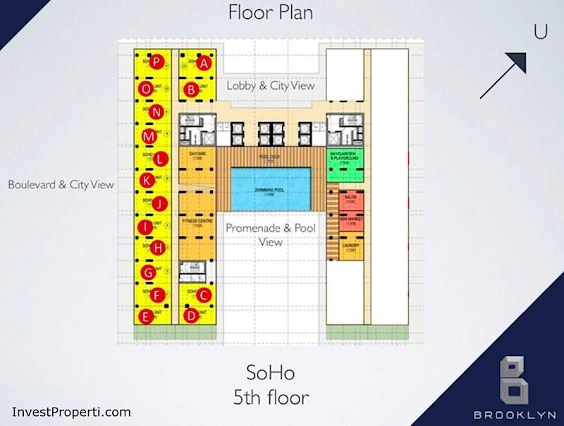 Floor Plan SOHO Brooklyn Alam Sutera 5th Floor