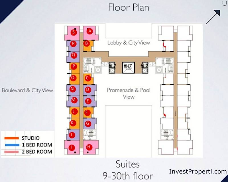 Floor Plan Brooklyn Apartment Alam Sutera 9-30th Floor