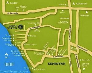 Meritus Seminyak Hotel Map