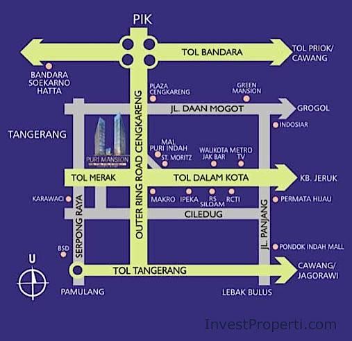 Peta Lokasi Puri Mansion Apartment