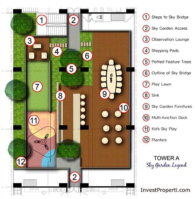 Site Plan Tower A - Puri Mansion Apartment