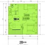 Tipe 2B++ Apartemen M-Square Bandung