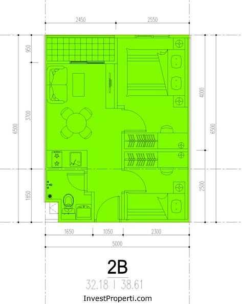 Tipe ST+ Apartemen M-Square Bandung