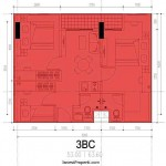 Tipe 3BC Apartemen M-Square Bandung