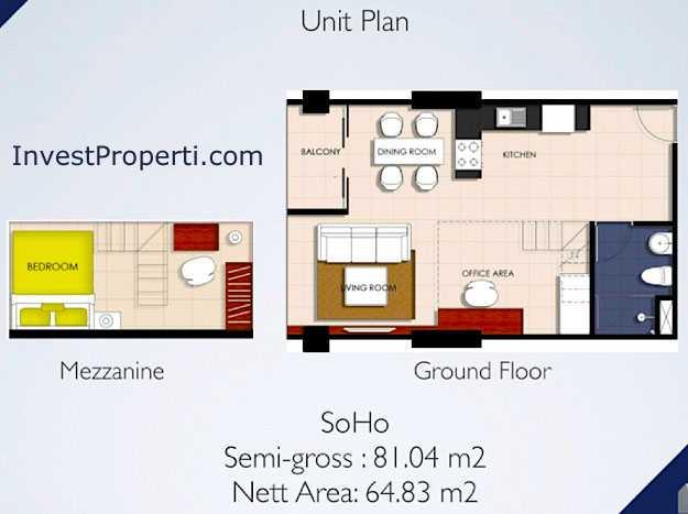 Unit Plan SOHO Brooklyn @ Alam Sutera