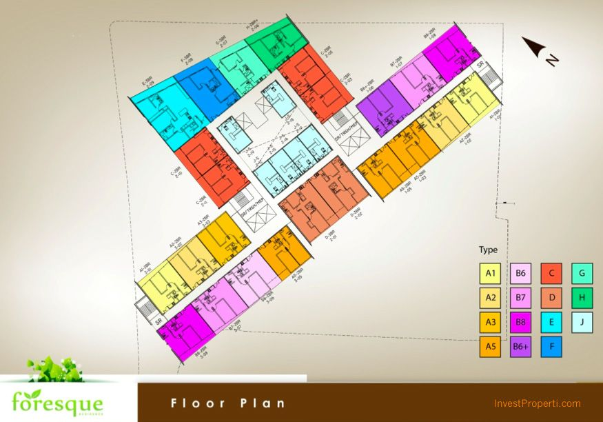 Floor Plan Foresque Apartment Ragunan