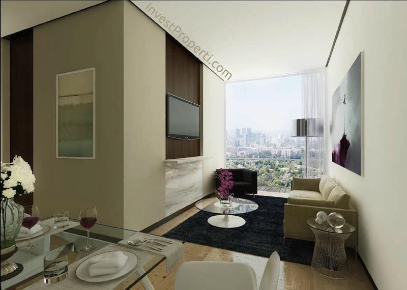 ForesQue Apartemen Middle Room Interior Design