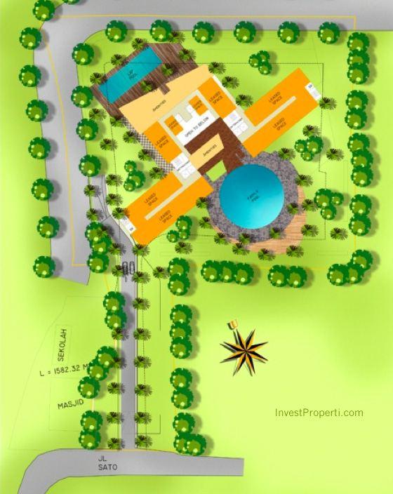 Master Plan Foresque Residence Ragunan