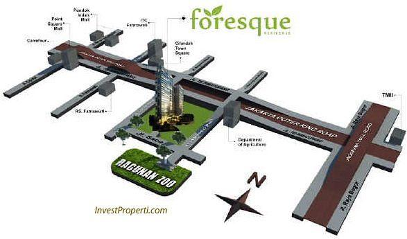 Peta Lokasi Foresque Apartment Ragunan