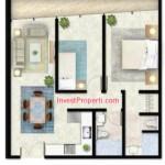 Tipe A1 Apartemen Foresque Ragunan 2 BR