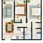 Tipe A2 Apartemen Foresque Ragunan 2 BR