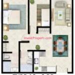 Tipe A3 Apartemen Foresque Ragunan 2 BR