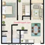 Tipe A5 Apartemen Foresque Ragunan 2 BR