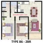 Tipe B6 Apartemen Foresque Ragunan 2 BR