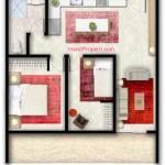 Tipe C Apartemen Foresque Ragunan 2 BR