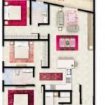 Tipe E Apartemen Foresque Ragunan 3 BR