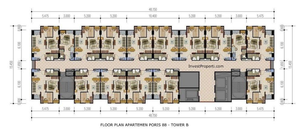 Floor Plan Apartemen Poris 88 Tower B