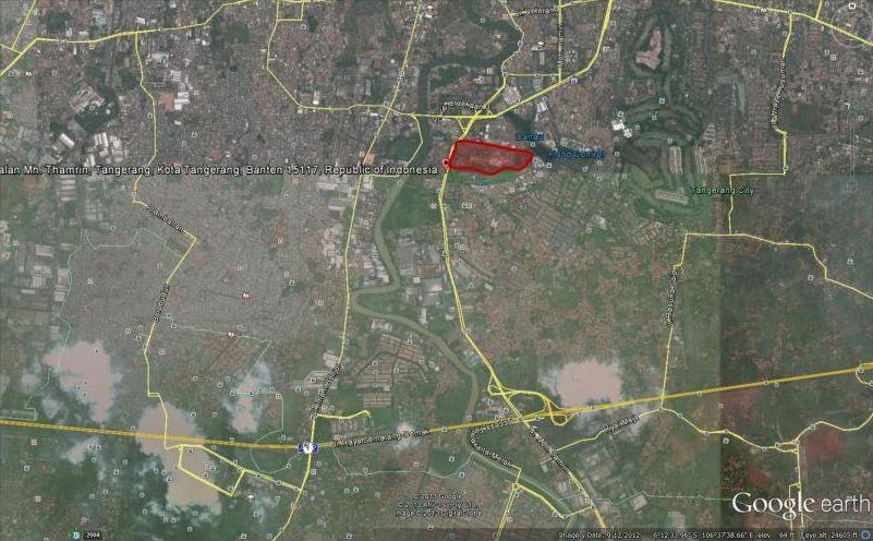 Google Earth Map Apartemen Kota Ayodhya Tangerang