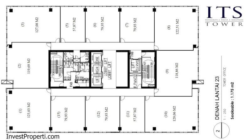 ITS Office Tower Floor Plan Lantai 23