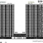 Key Plan Floor Zone Tower Kota Ayodhya Coral dan Indigo
