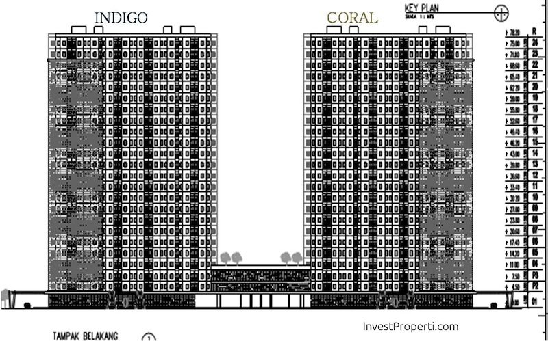 Key Plan Floor Zone Tower Kota Ayodhya Coral dan Indigo