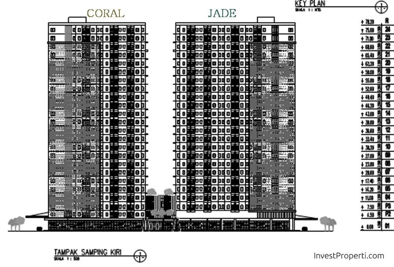 Key Plan Floor Zone Tower Kota Ayodhya Coral dan Jade