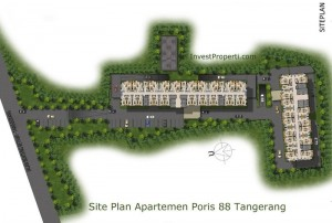 Site Plan Poris 88 Apartemen