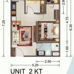 Tipe Unit 2 BR Vittoria Residence Daan Mogot