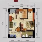 Tipe Unit 2BRC Apartemen Kota Ayodhya Tangerang