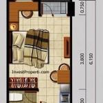 Tipe Unit Studio Apartemen Kota Ayodhya Tangerang