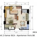 Unit 2 Kamar BCA - Apartemen Poris 88