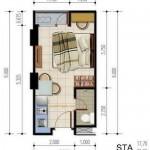 Unit Studio A Apartemen Poris 88
