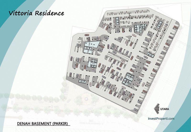 Vittoria Residence Denah Basement (parkir)